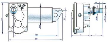 Stiklu tīrītāja motors 525992-24V WINDS.WIPER MOTOR
