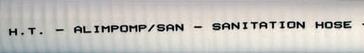 Sanitāra šļūtene ALIPOMP/SAN SANITARY HOSE 38 MM