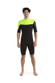 Vīriešu hidrotērps īsais Perth Shorty 3|2MM Lime Green izmēri S, M, L, XL, 2XL, 3XL