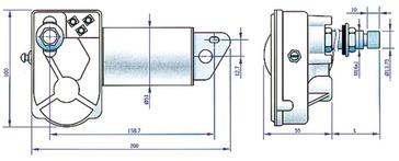 Stiklu tīrītāja motors 525991 WIPER MOTOR WHITE COLOR